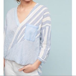Holding Horses Wrap top with high low hem